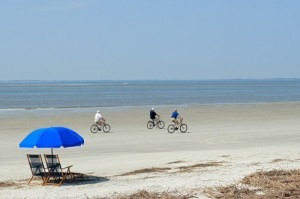 Biking on the Beach in Hilton Head