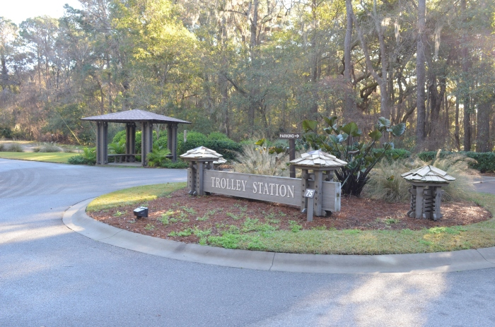 The Sea Pines Trolley Station