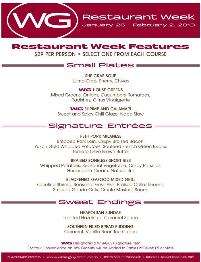 Wise Guys Restaurant Week