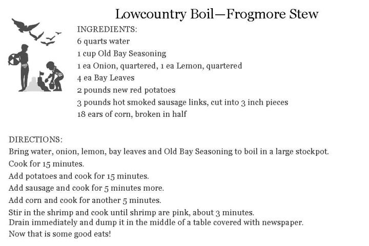 Recipe For Lowcountry Boil