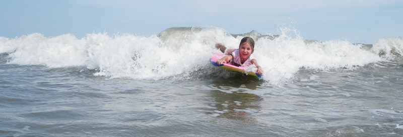 Boogie Boarding on Hilton Head!