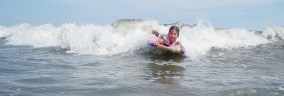 Boogie Boarding on Hilton Head!