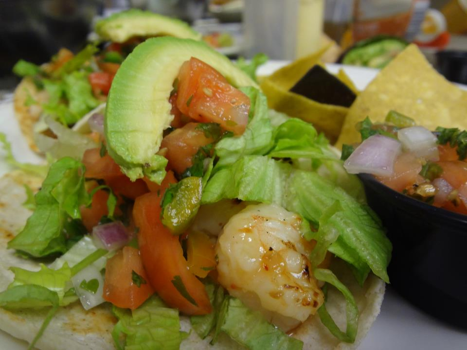 Hot Asian Shrimp Taco at One Hot Mama's