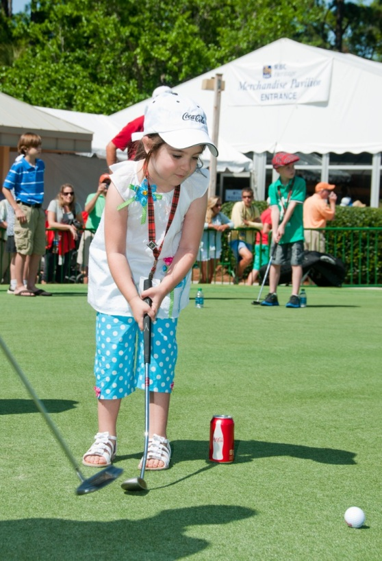 Kids Putting Contest at the RBC Heritage
