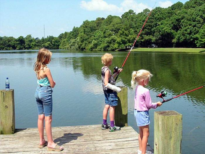 Fishing  in the Sea Pines Forest Preserve