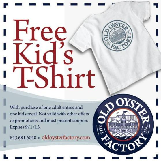 Old Oyster Factory Free T-Shirt