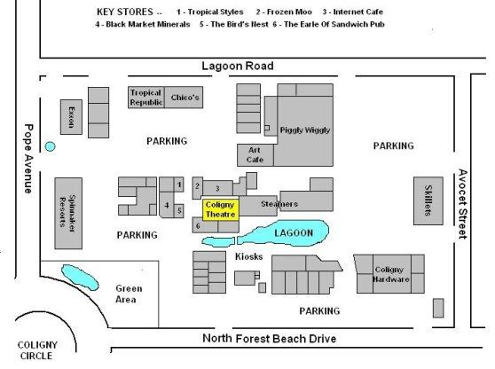 Coligny Plaza Map