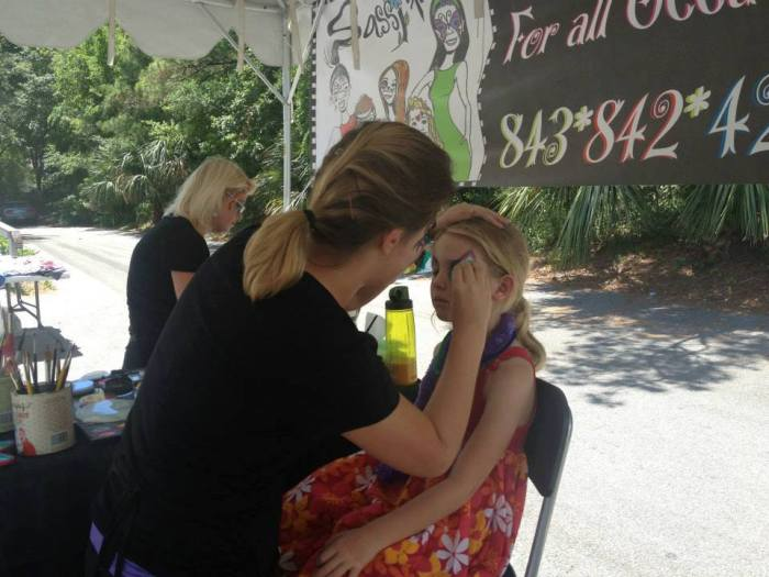 Face Painting on Hilton Head