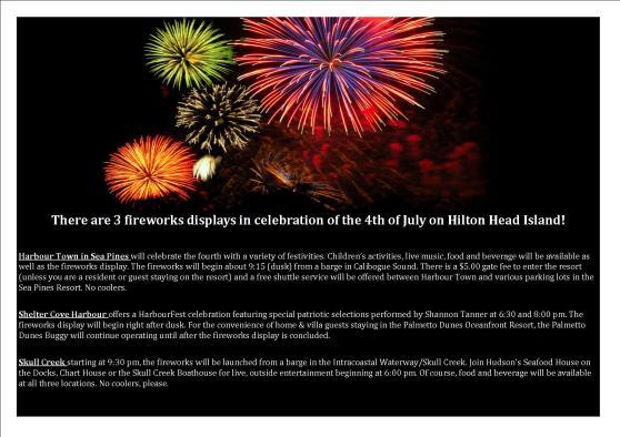 4th of July Fireworks Hilton Head Island