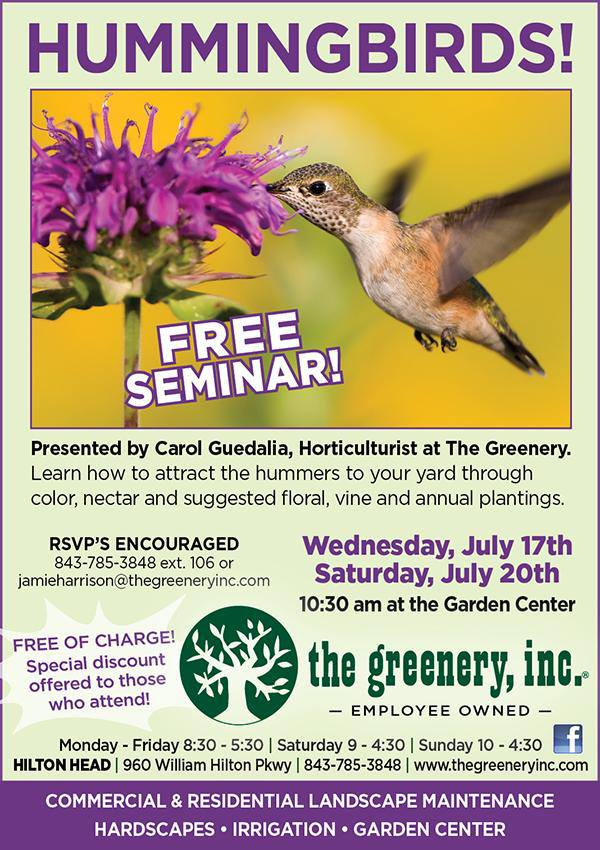 The Greenery Hummingbird Seminar