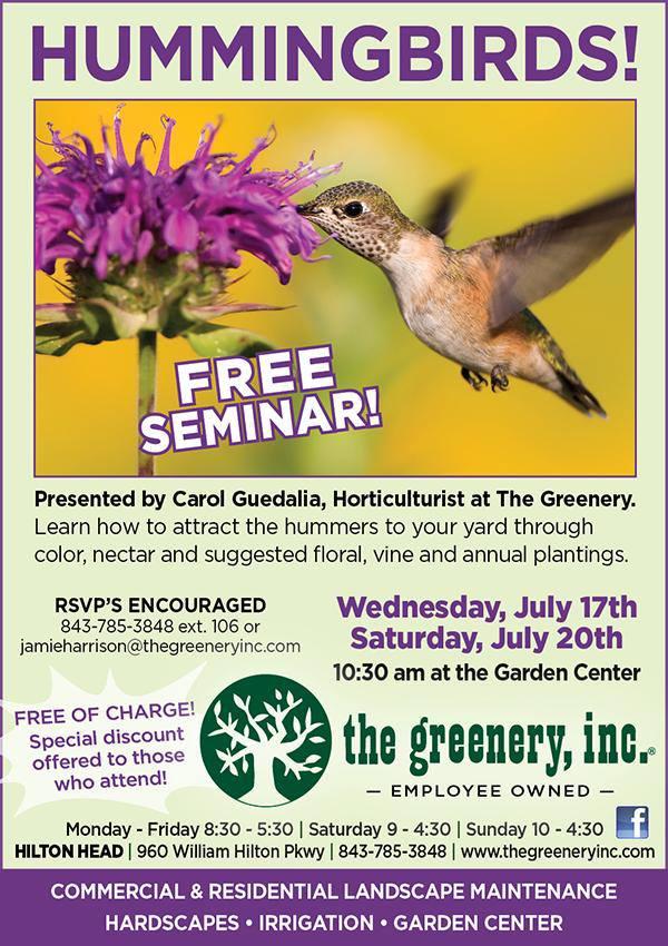 The Greenery Hummingbird Seminar