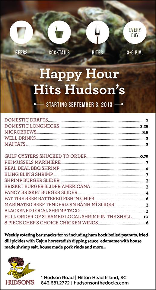 Hudsons Happy Hour
