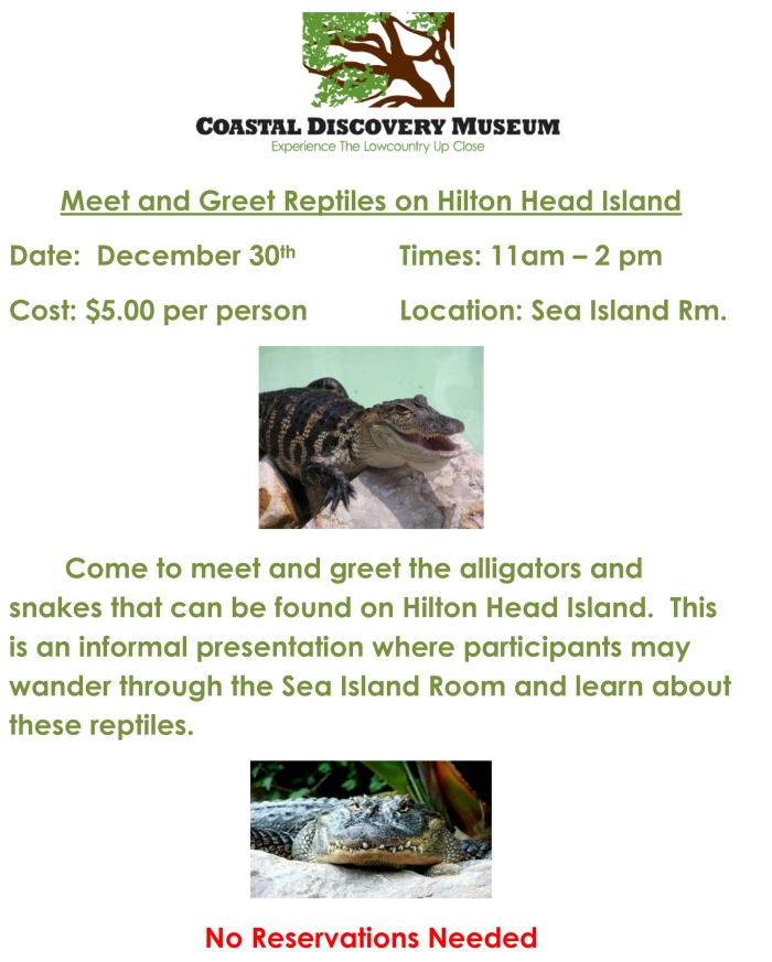 2014 Meet and Greet Reptiles on Hilton Head Island