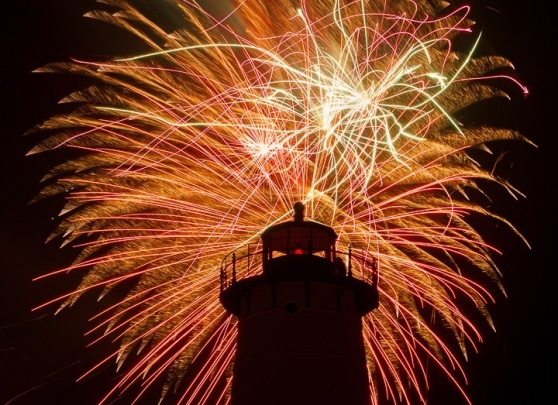 lighthouse fireworks