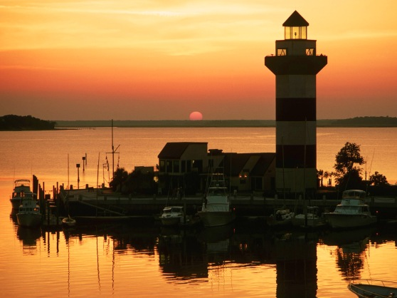 Harbour Town at sunset