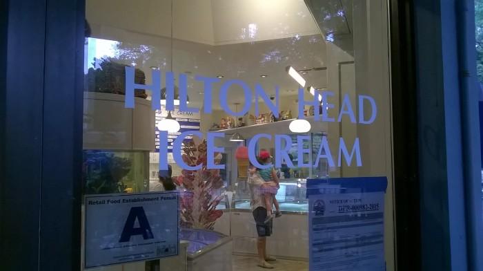 hilton head ice cream sign