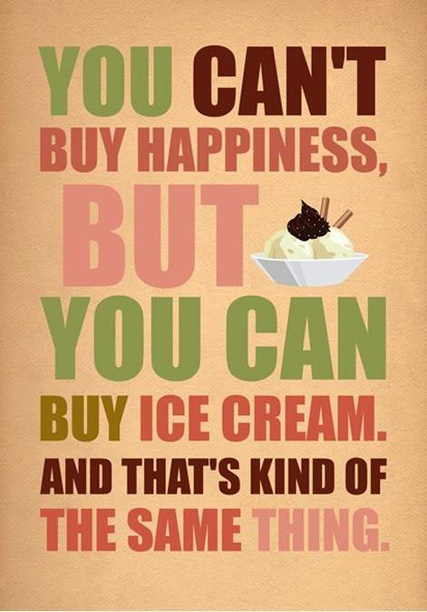 ice cream happiness poster