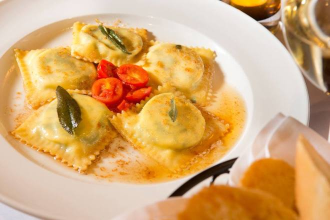 Fresh Ravioli at Ombra Cucina Rustica