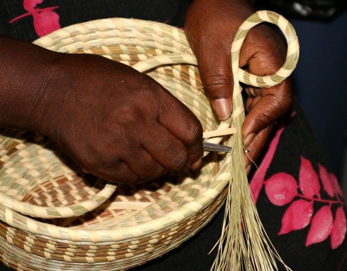 sweetgrass basket making