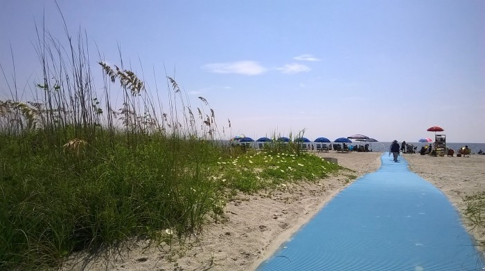 Islanders beach path
