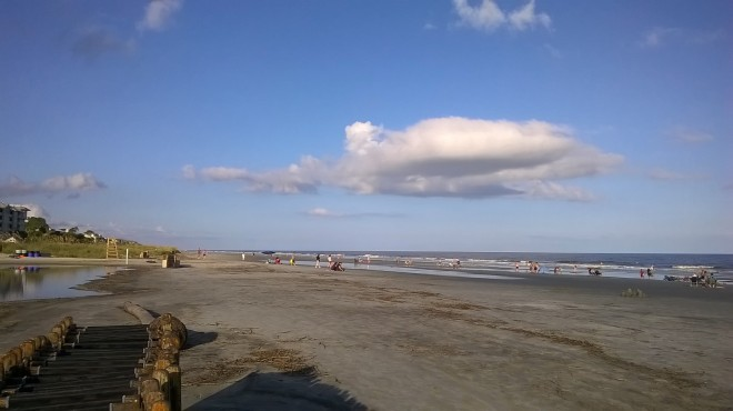 Space to stretch out at Coligny Beach