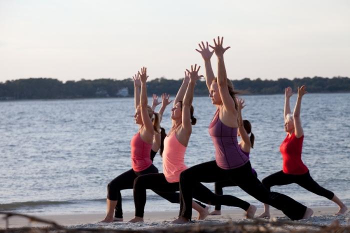 yoga on the beach 2