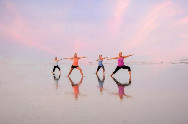 yoga on the beach 3