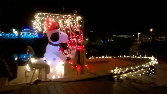 decorated boat snoopy