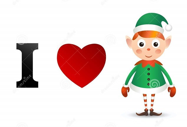 i-love-christmas-card-cute-character-43777281