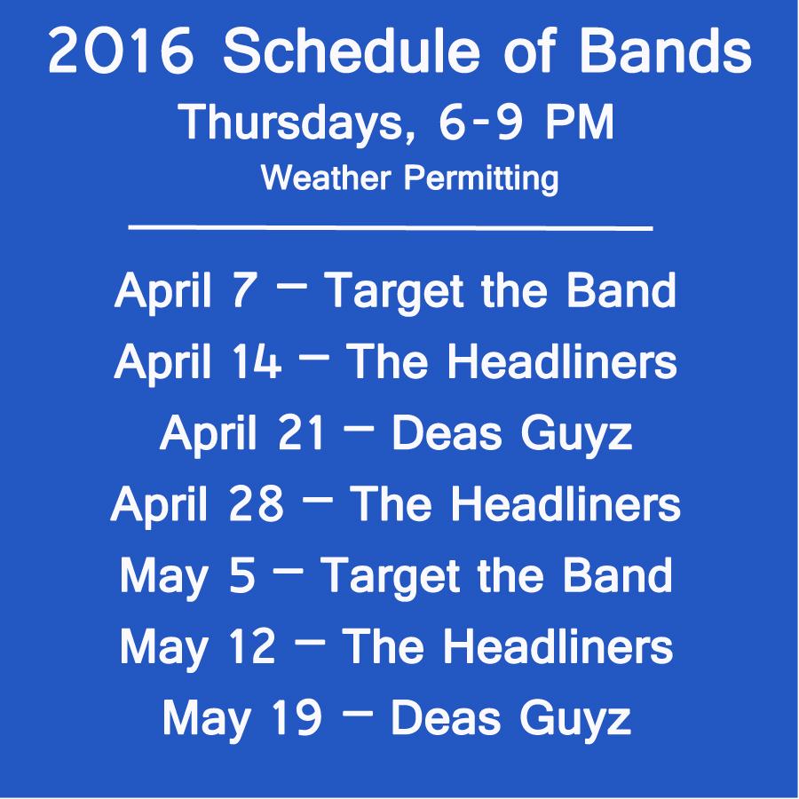 schedule of bands