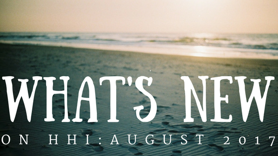 What's New on HHI: August 2017 text over beach picture
